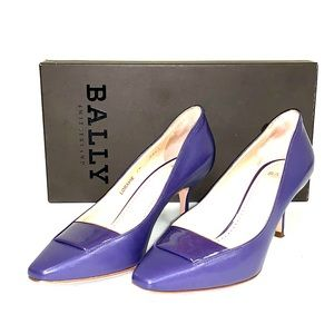 Bally Leather Shoes in Dark Purple